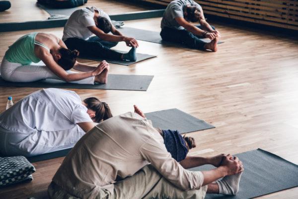 yoga op de mat